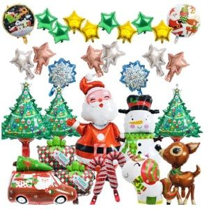 ⭐️NEW⭐️Christmas Balloons Party Decor Package